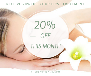 Receive 20% off your first treatment
